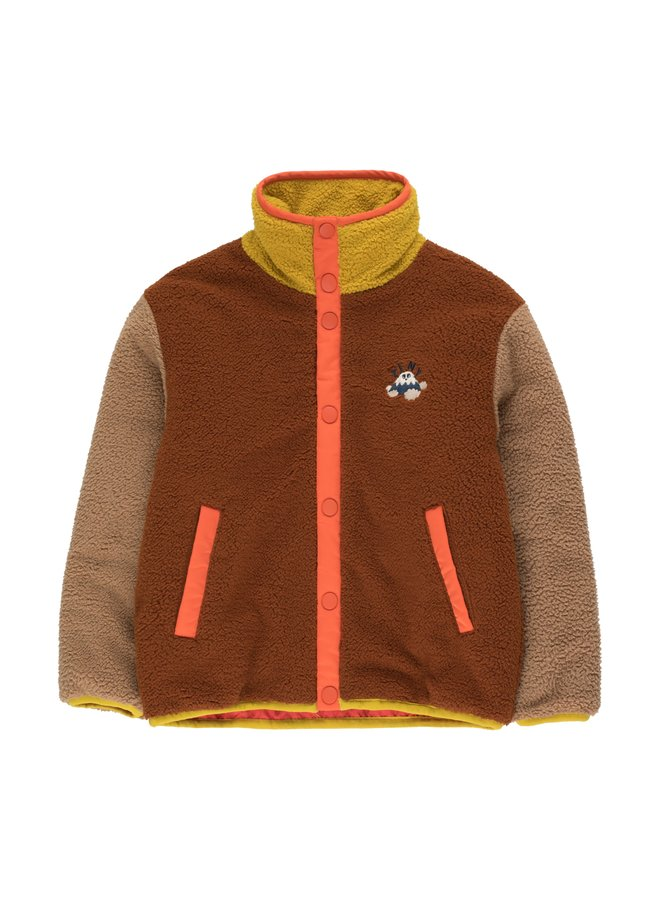 TinyCottons color block polar jacket sienna