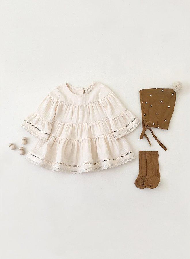 Quincy Mae belle dress pebble