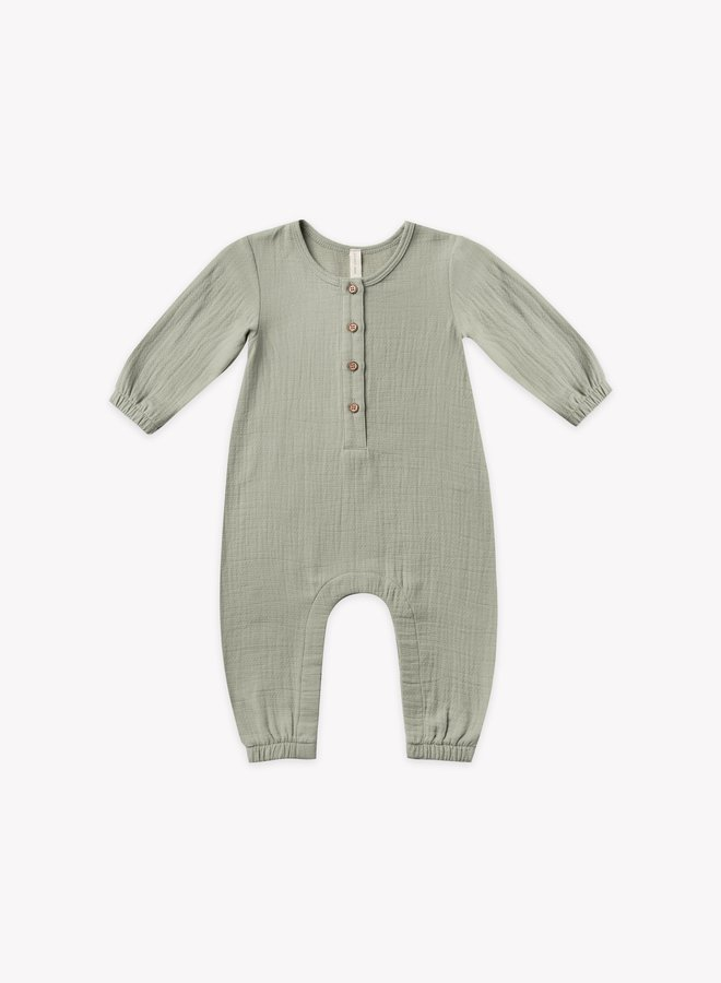 Quincy Mae woven jumpsuit sage