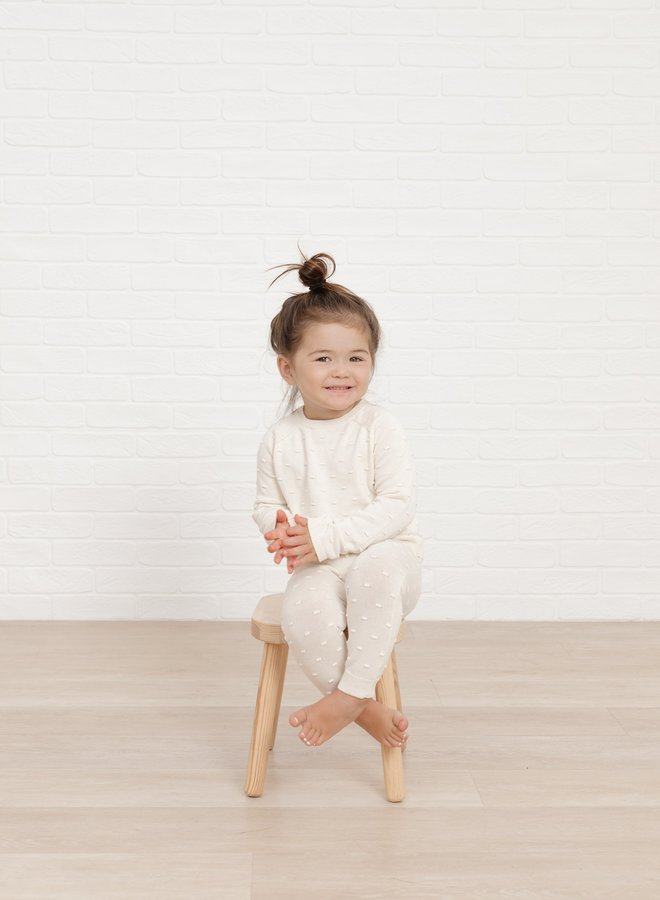 Quincy Mae knit pant ivory