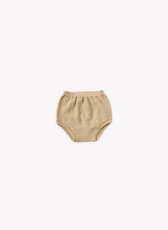Quincy Mae knit bloomer honey