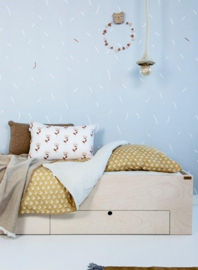 Bibelotte behang Sprinkels - blauw