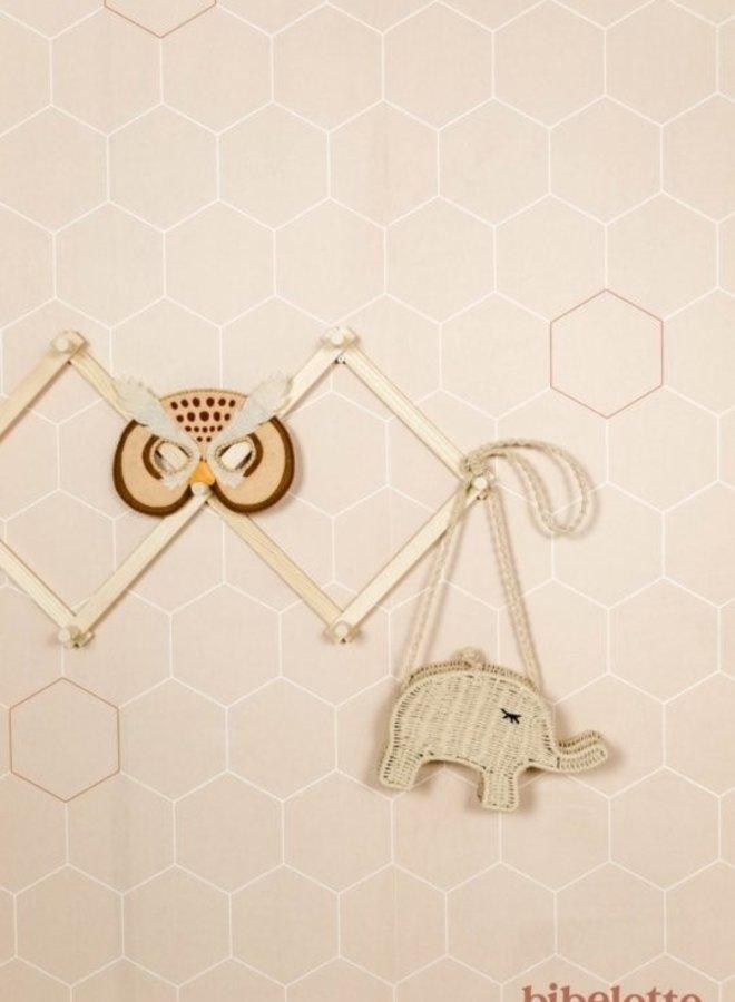 Bibelotte behang Honingraad - nude