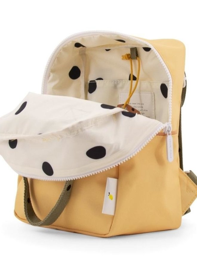 Sticky Lemon backpack small freckles retro yellow