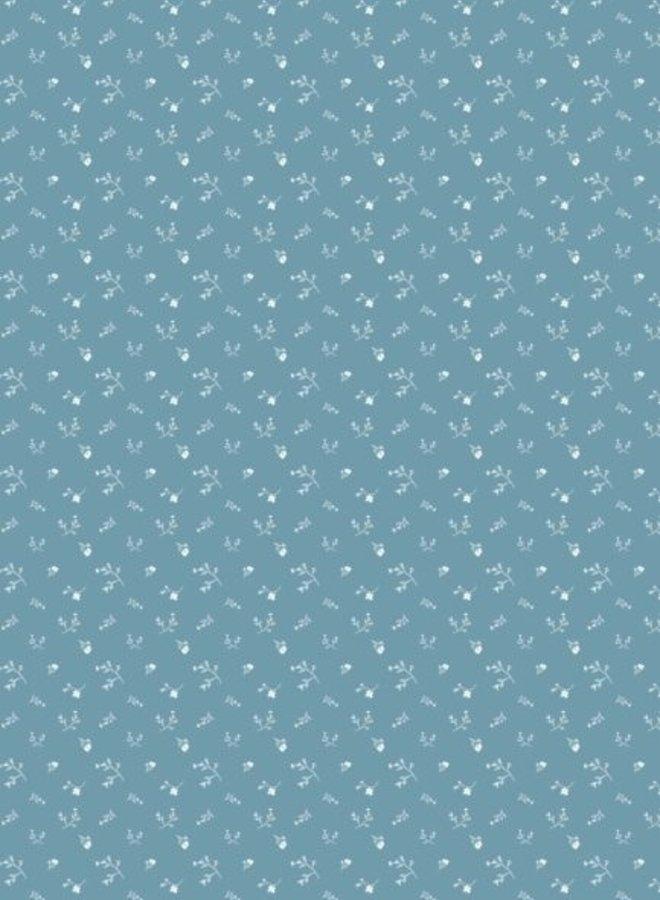 Bibelotte behang Bloemenzee mini - blauw