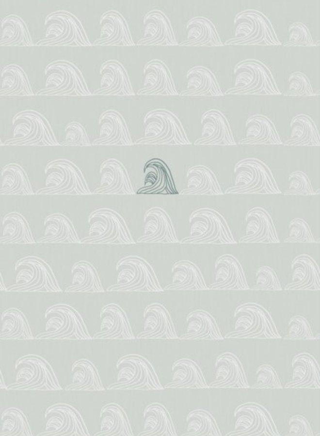 Bibelotte behang Zeebries - blauw/denimblauw