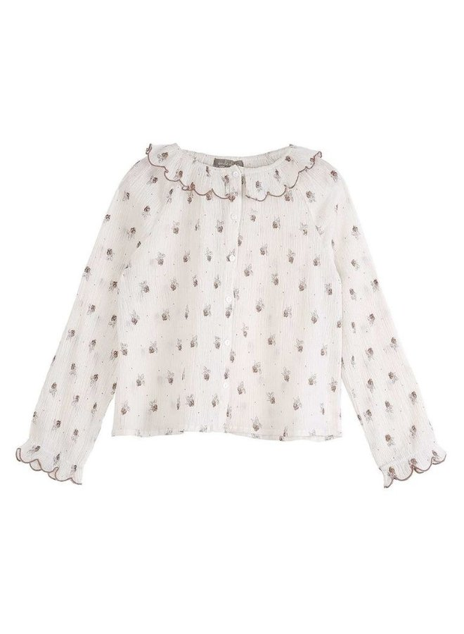 Emile et Ida blouse blackberries ecru