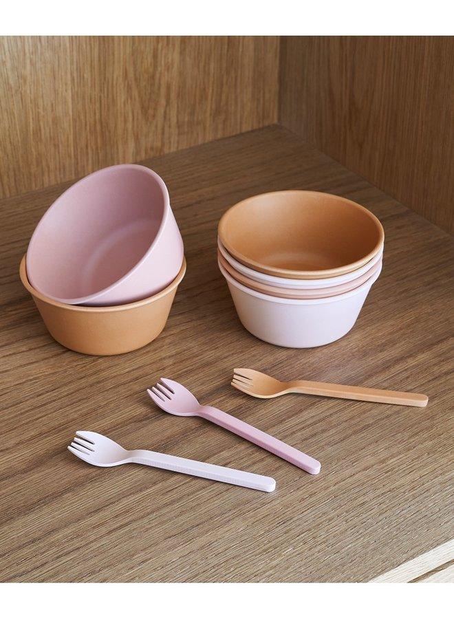Liewood greta bamboo bowl dark rose 6pack