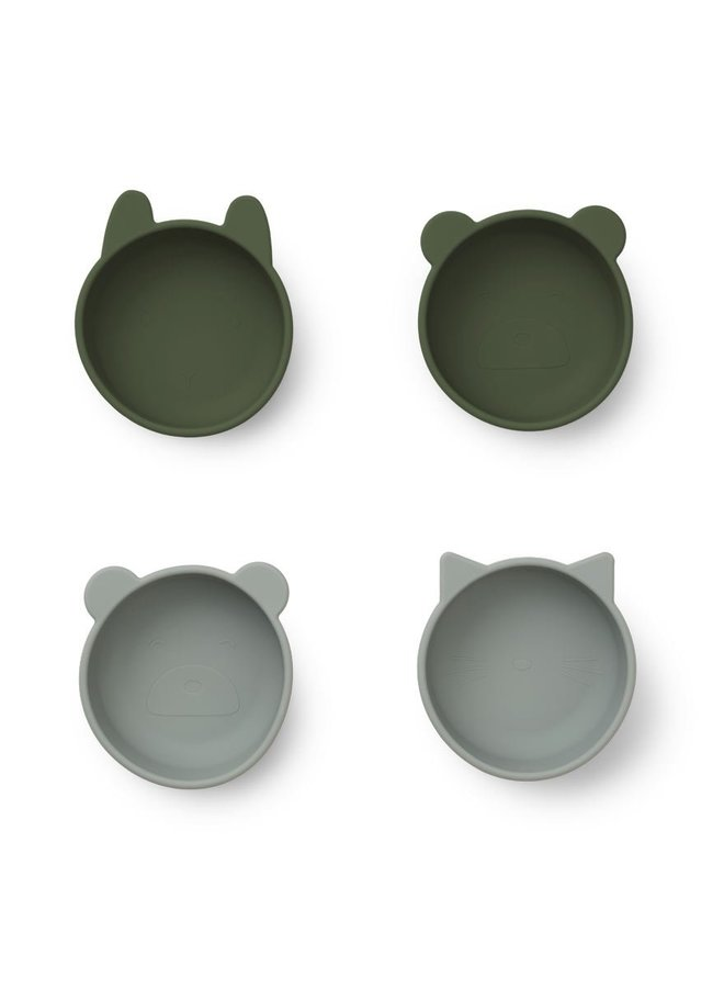 Liewood iggy silicone bowls hunter green mix