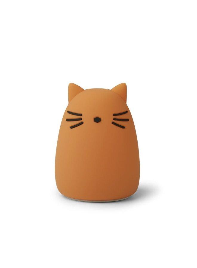 Liewood nachtlampje winston cat mustard