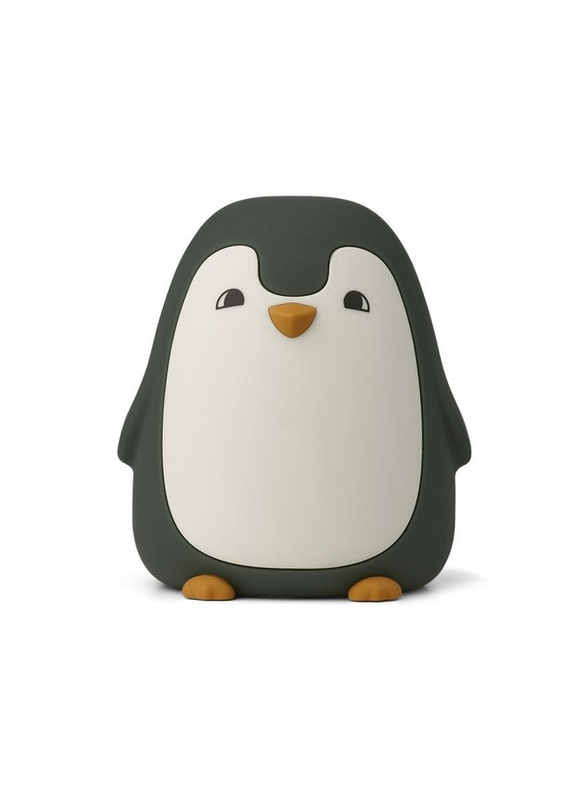Liewood nachtlampje penguin hunter green