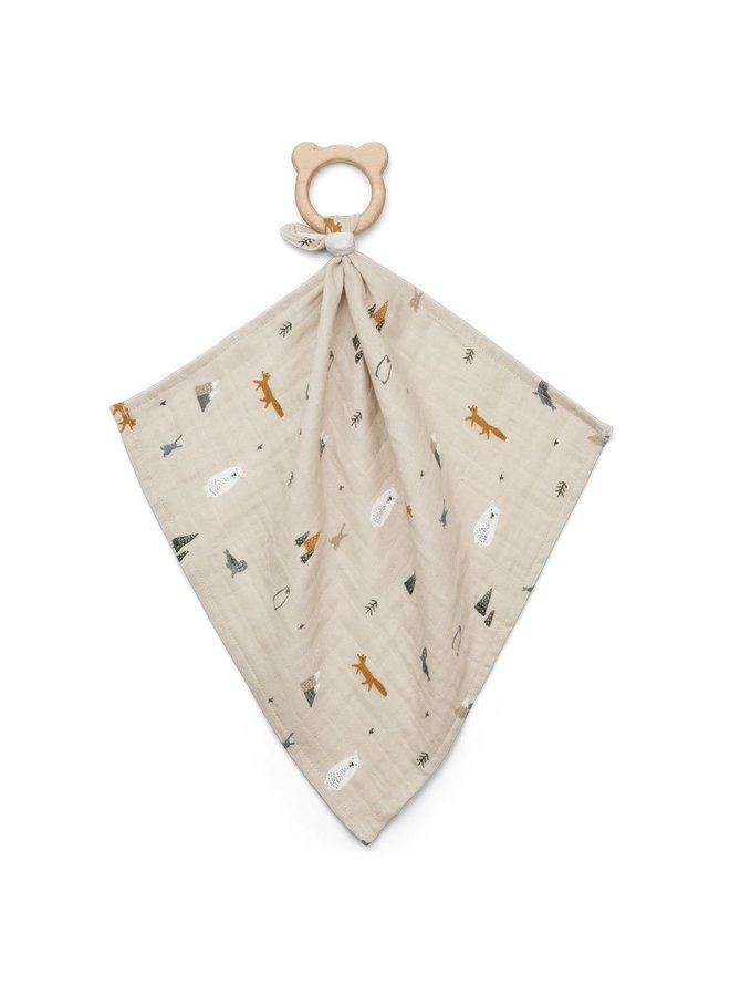 Liewood Dines teether cuddle cloth artic mix