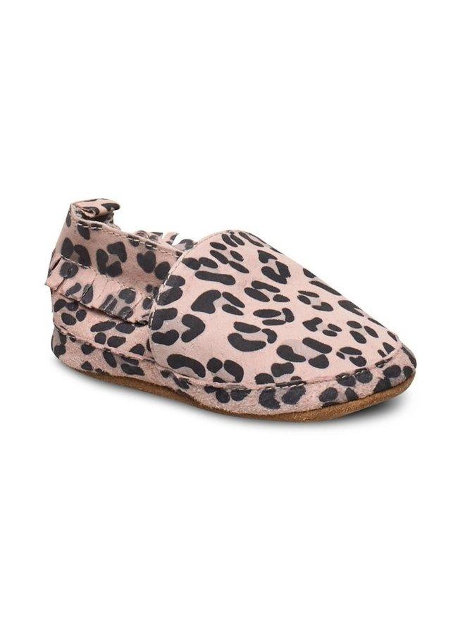 Melton leren slofjes 420 leopard