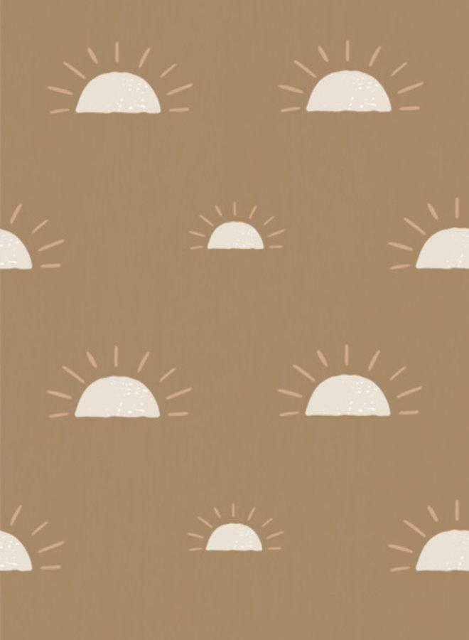 Bibelotte behang Ochtendgloren - mosterd