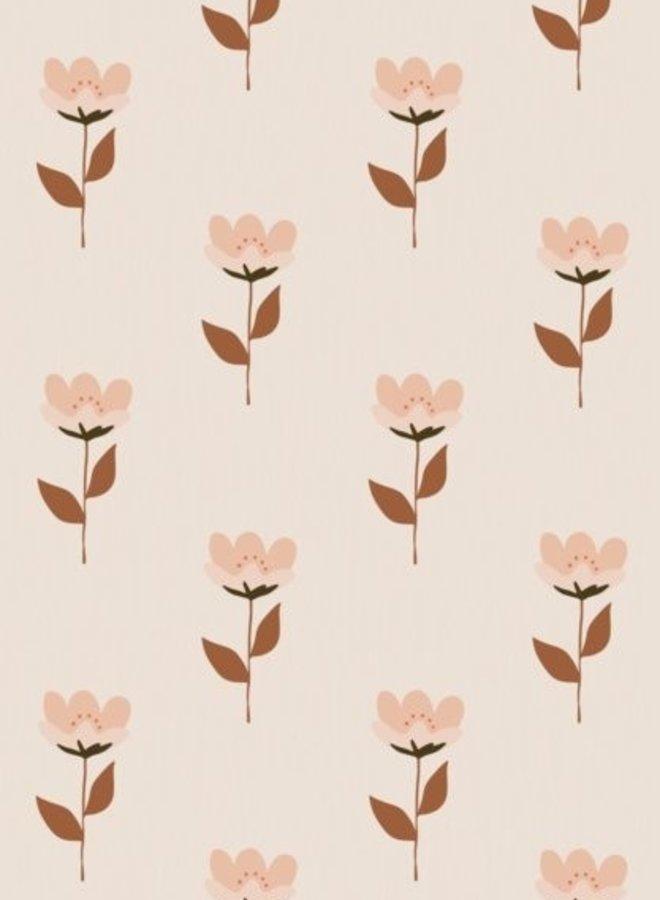 Bibelotte behang Retro bloem - roze