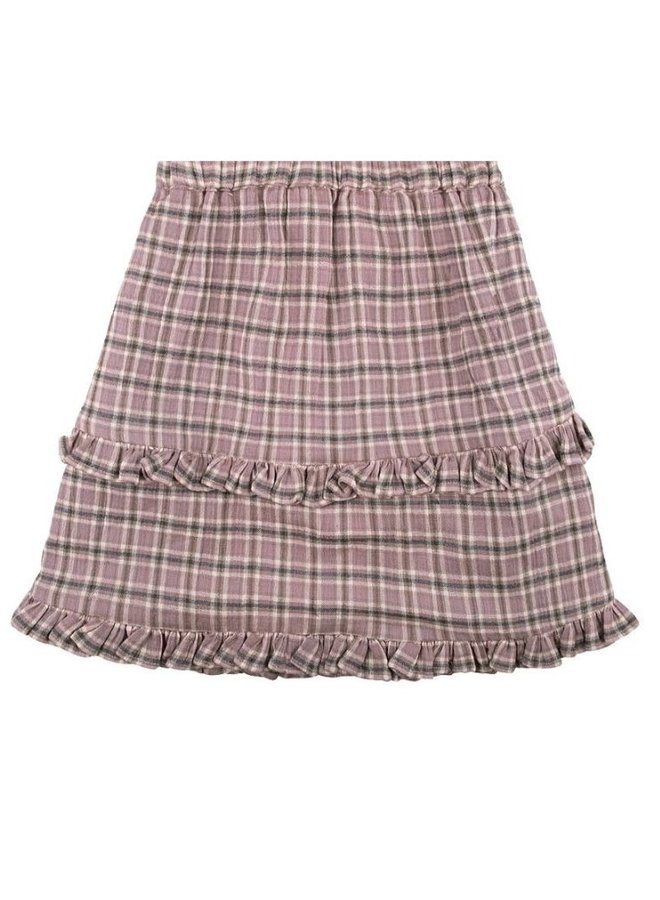 The New Society Bella skirt check lavanda
