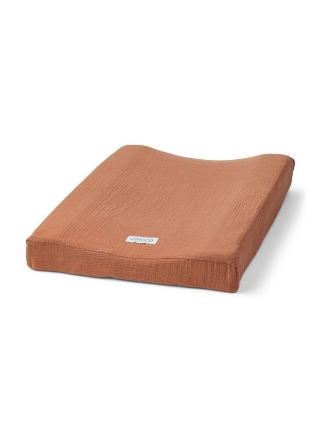 Liewood Cliff muslin changing cover terracotta