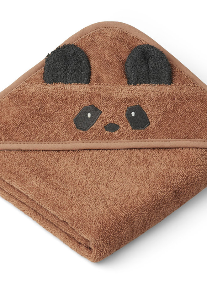 Liewood Albert hooded towel - panda tuscany rose