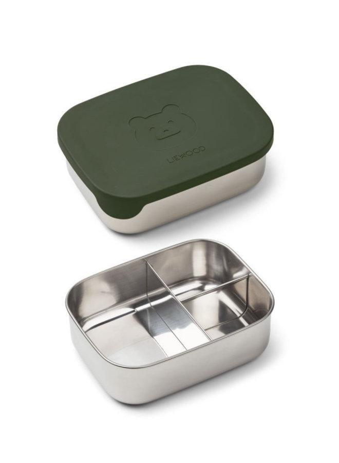 Liewood - Arthur lunchbox Mr bear hunter green