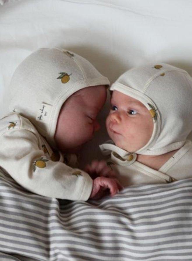 Konges Slojd newborn helmet lemon