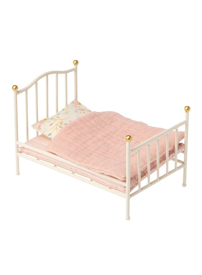 Maileg - Vintage bed, Mouse, off white