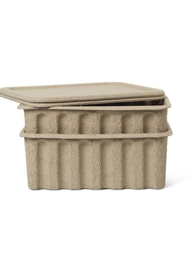 Ferm Living paper pulp box / set 2