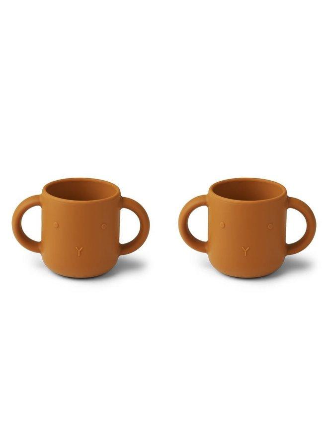 Liewood Gene silicone cup rabbit mustard