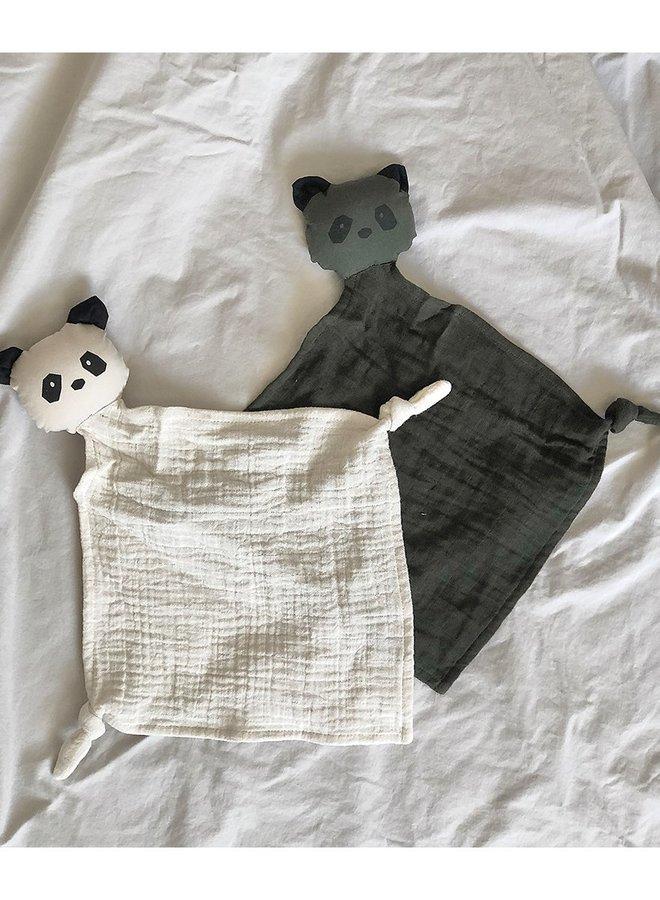 Liewood yoko knuffeldoek - 2pack panda hunter green