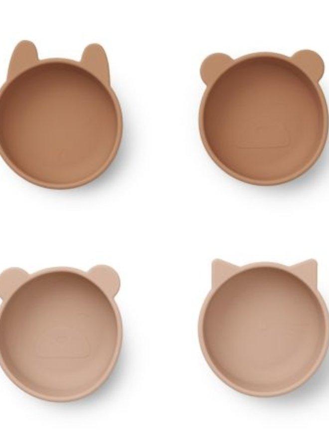 Liewood iggy silicone bowls tuscany rose mix
