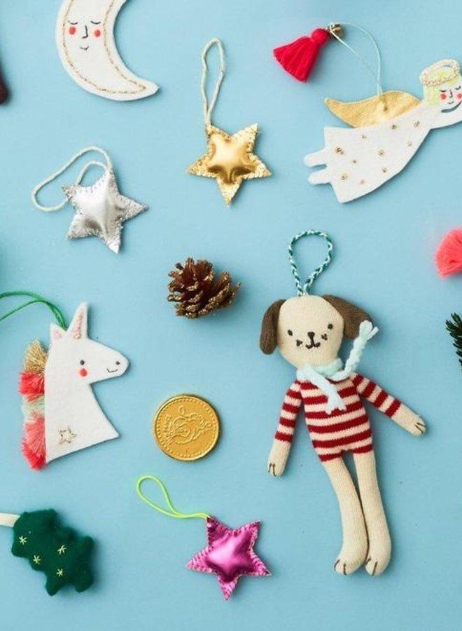 Meri Meri stripy dog boom decoratie