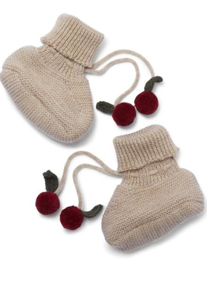 Konges Slojd Tomami knit boots paloma brown