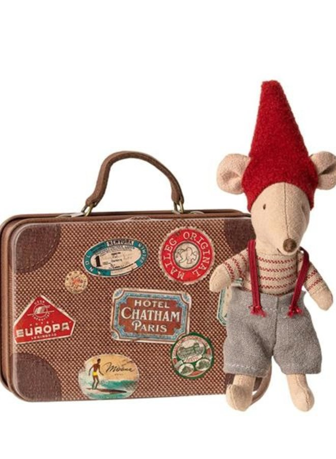Maileg christmas mouse in suitcase, little brother