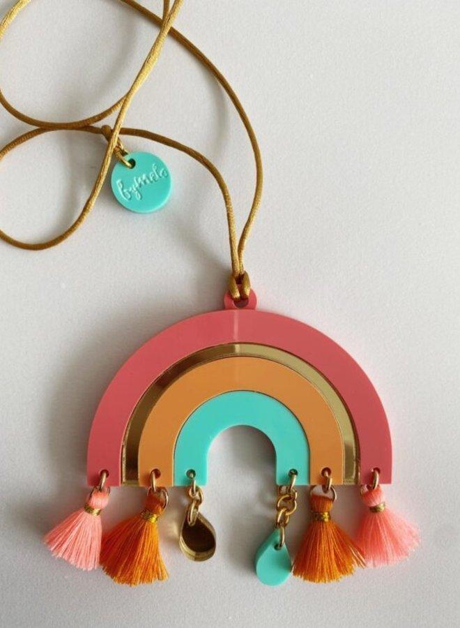 ByMelo regenboog ketting