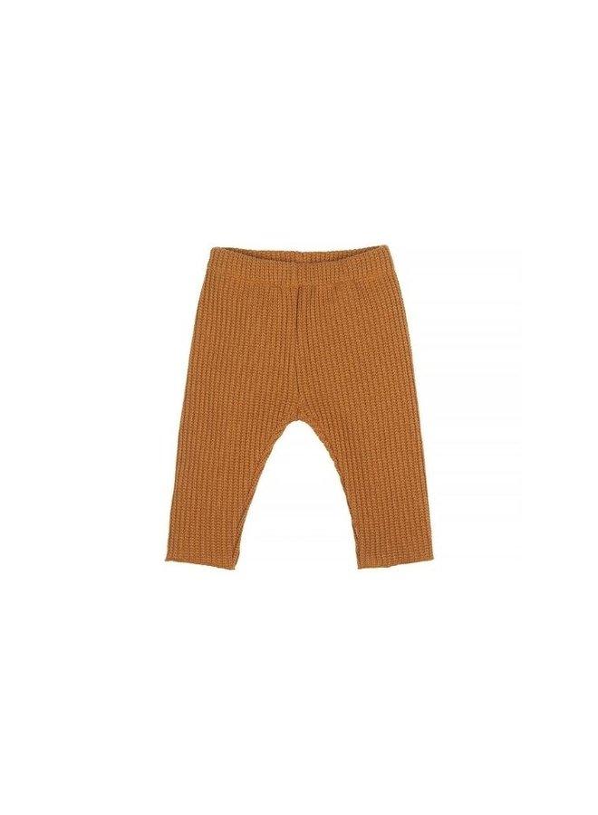 Nanami Baby rib pants knitted sand