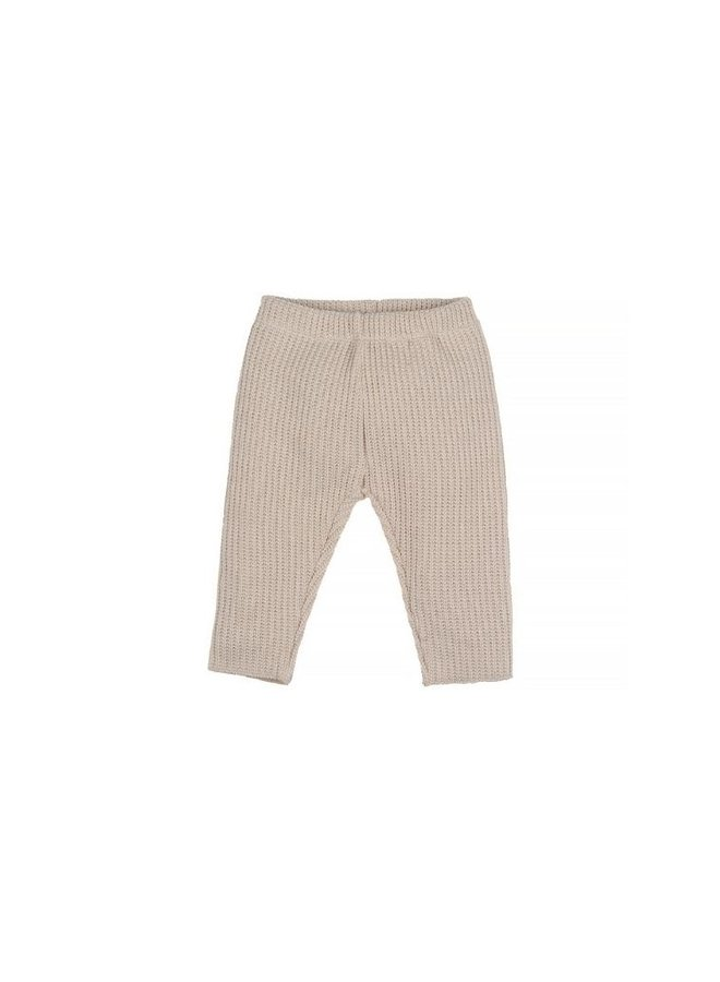 Nanami Baby rib pants knitted natural