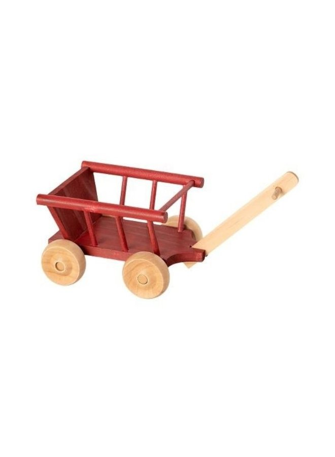 Maileg Wagon, Micro - Dusty red