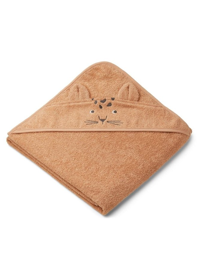 Liewood Augusta hooded towel leopard apricot