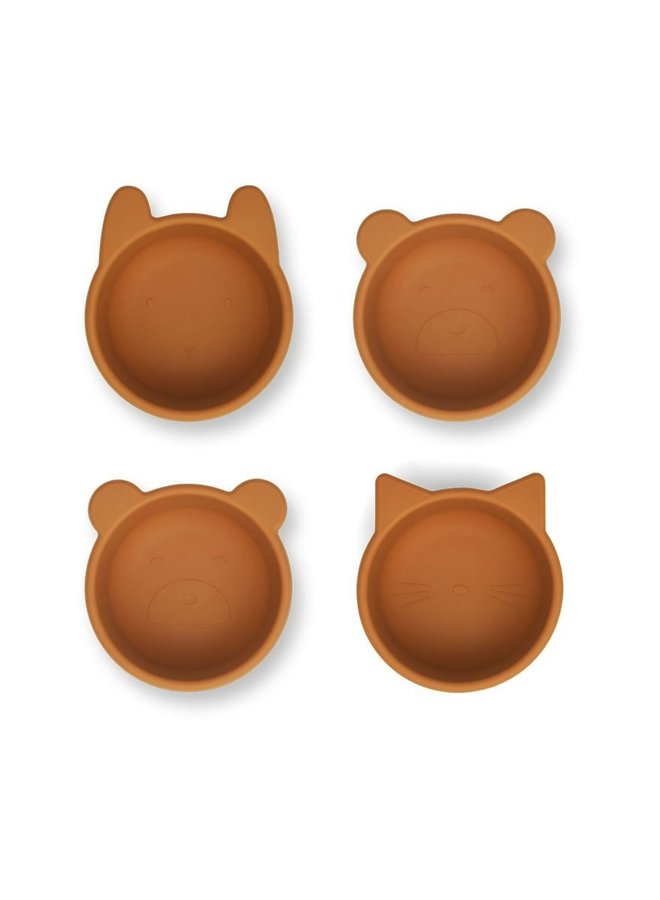 Liewood Malene silicone bowl 4-pack mustard