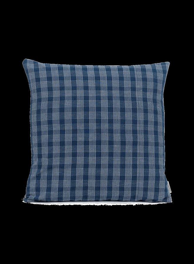 Studio Feder kussen blue grid 50x50