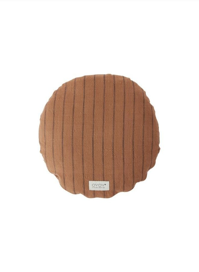 OYOY Kyoto cushion round dark caramel