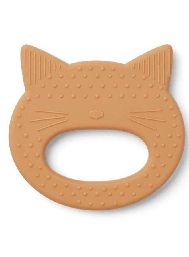 Liewood Gemma teether cat mustard