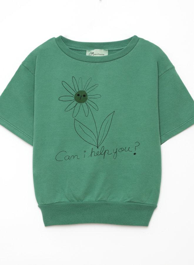 Weekend House Kids flower short sweatshirt