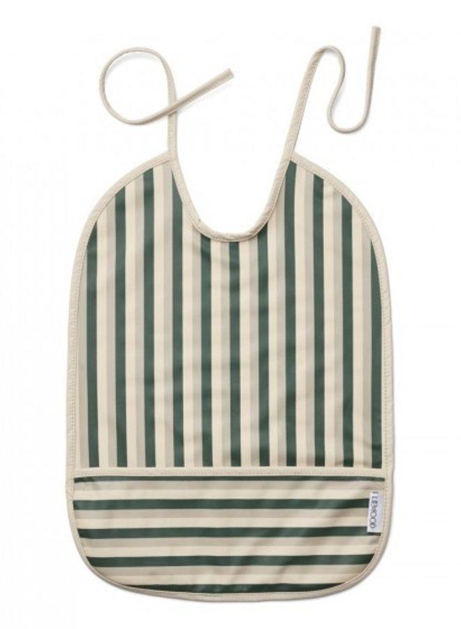 Liewood slab Stripe garden green, sandy, dove blue