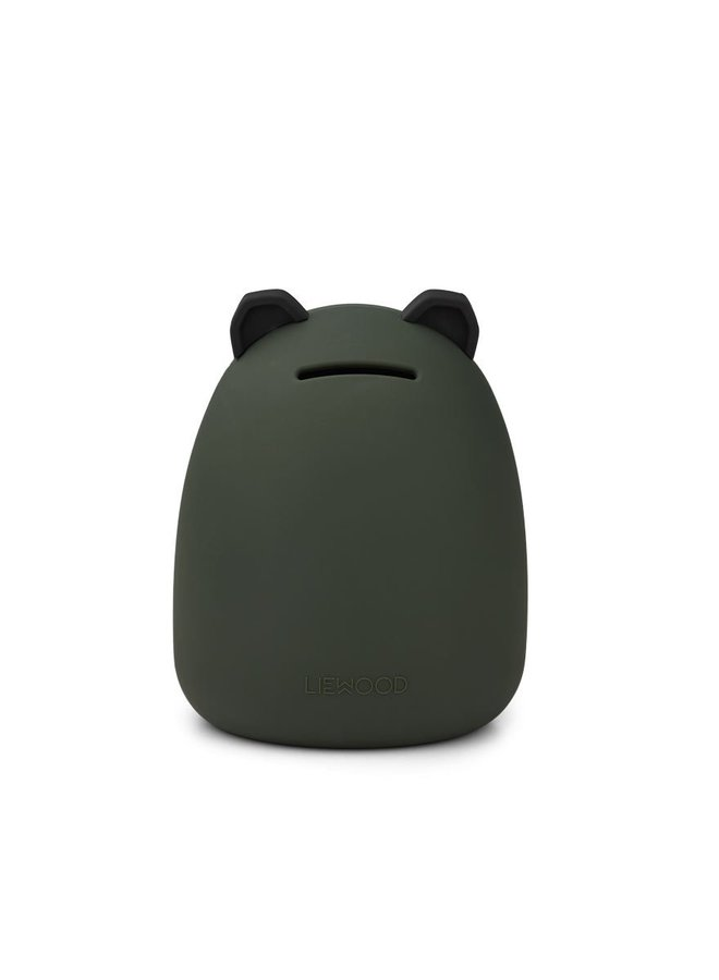 Liewood palma money bank panda hunter green