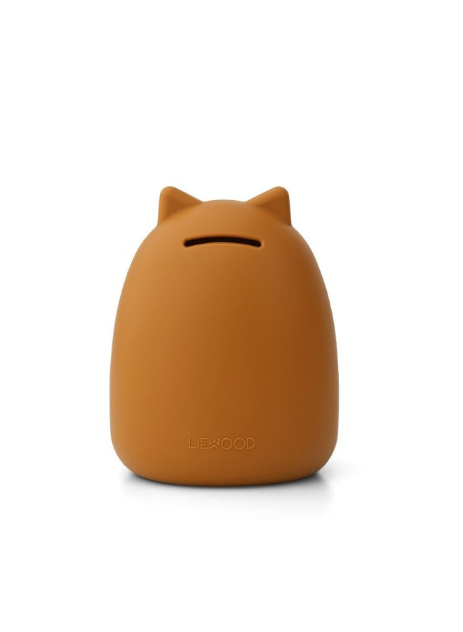 Liewood palma money bank cat mustard
