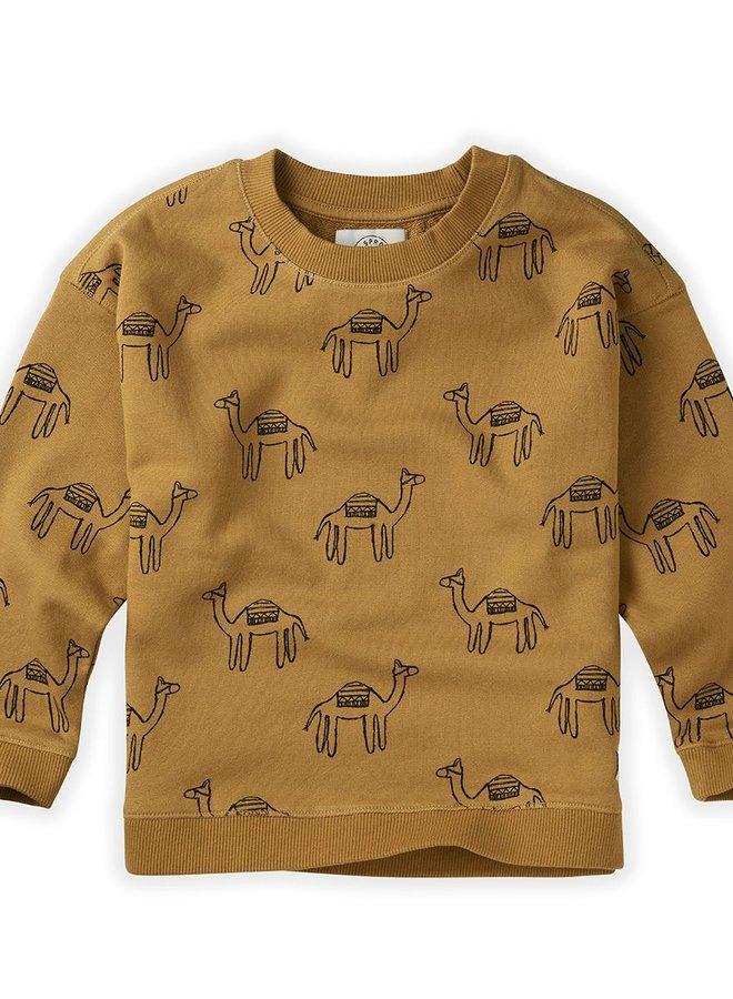 Sproet & Sprout Sweatshirt Print Camel