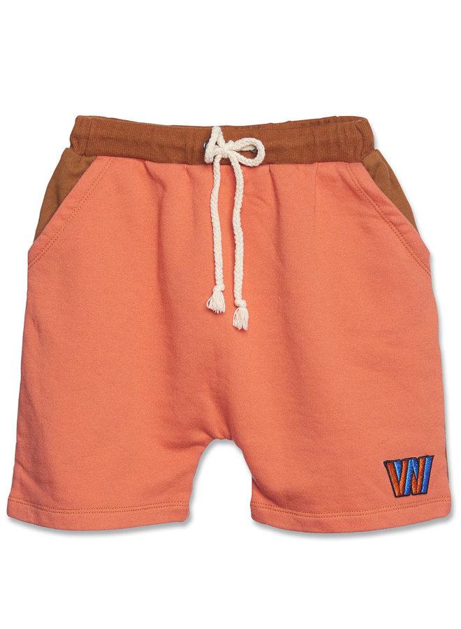 Wander & Wonder color block shorts copper