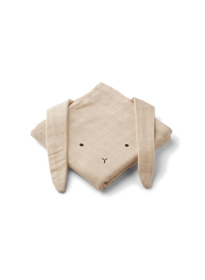 Liewood Hannah muslin cloth rabbit Sandy