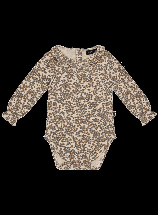 House of Jamie - Frill Collar Bodysuit - Apple Cider Blossom