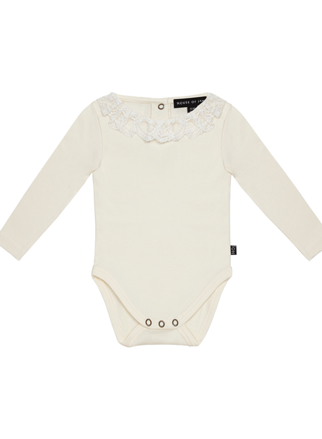 House of Jamie - Lace Collar Bodysuit Cream & Lace